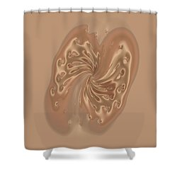 Satin Butterfly Shower Curtain