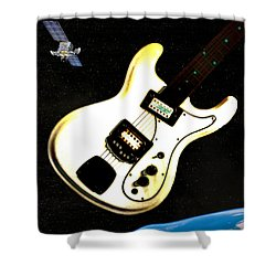 Sattelite  Shower Curtain by Bill Cannon
