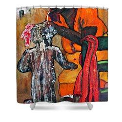 Saturday Night  Bath Shower Curtain by Peggy  Blood