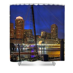 Saturday Night Boston Hustle Shower Curtain by Joann Vitali