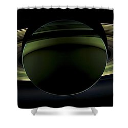 Saturns Glowing Rings Shower Curtain by Adam Romanowicz