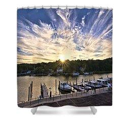 Shower Curtain featuring the photograph Saugatauk Sunset by John Hansen