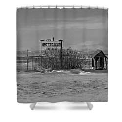 Shower Curtain featuring the photograph Savageton Cemetery  Wyoming by Cathy Anderson