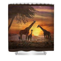 Savanna Sunset Shower Curtain