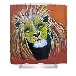 Shower Curtain featuring the painting Savannah Lord by Sharyn Winters