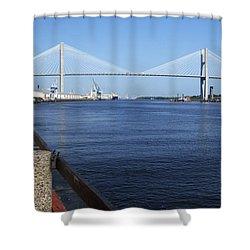 Savannah River Bridge Ga Shower Curtain