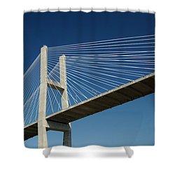 Savannah River Bridge Georgia Usa Shower Curtain