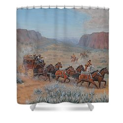Saving The Nigh Leader Shower Curtain by Elaine Jones