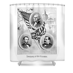 Saviours Of Our Country  Shower Curtain by War Is Hell Store