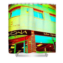 Savona Fine Italian Food And Wine 6 Shower Curtain