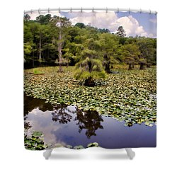 Saw Mill In July Shower Curtain by Lana Trussell