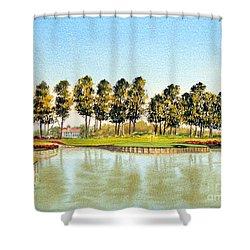 Sawgrass Tpc Golf Course 17th Hole Shower Curtain
