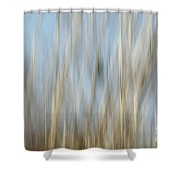 Sawgrass In Motion Shower Curtain by Benanne Stiens