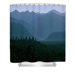 Sawtooth Mountains Silhouette Shower Curtain