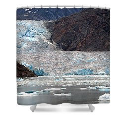 Shower Curtain featuring the photograph Sawyer Glacier by Jennifer Wheatley Wolf