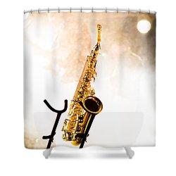 Saxophone  Shower Curtain by Bob Orsillo