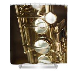 Saxophone Close Up Shower Curtain
