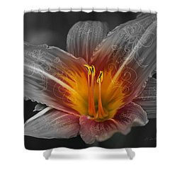 Say Something Shower Curtain