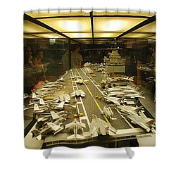 Scale Model Aircraft Carrier Shower Curtain