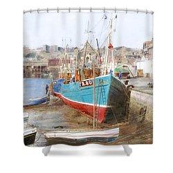 Scarborough Harbour Shower Curtain