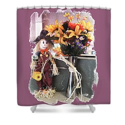 Scarecrow And Company Shower Curtain by Patricia Keller