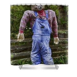 Scarecrow Shower Curtain by John Haldane