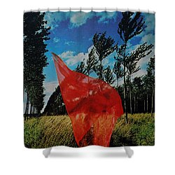 Scarf In The Winds Shower Curtain