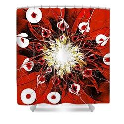 Scarlet Shower Curtain by Anastasiya Malakhova