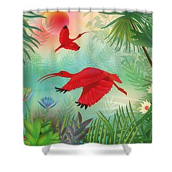 Scarlet Corocoro - Limited Edition 1 Of 20 Shower Curtain