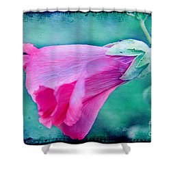 Scarlet Mallow Shower Curtain