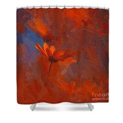 Scarlet Petals  Shower Curtain