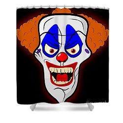 Scary Clown Shower Curtain