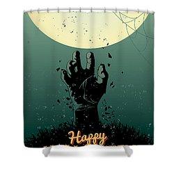 Scary Halloween Shower Curtain
