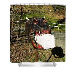 Shower Curtain featuring the photograph Scary Mailbox 2 by Sherman Perry