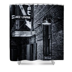 Scat Lounge In Cool Black And White Shower Curtain