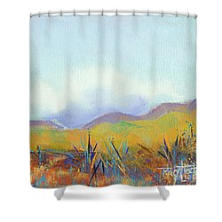 Scattered Seeds Shower Curtain by Tracy L Teeter