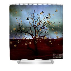 Shower Curtain featuring the photograph Scattered Thoughts by Chris Armytage