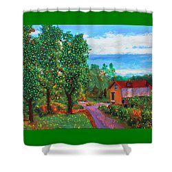 Scene From Giverny Shower Curtain