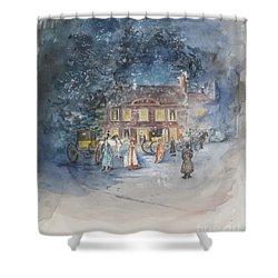 Scene From Jane Austens Emma Shower Curtain by Caroline Hervey Bathurst