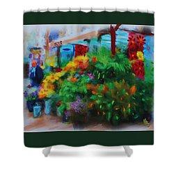 Scene From La Rambla Shower Curtain