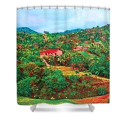 Scene From Mahogony Bay Honduras Shower Curtain