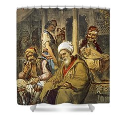 Scene In A Cafe, 1865 Shower Curtain by Amadeo Preziosi