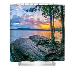 Scenery Around Lake Jocasse Gorge Shower Curtain