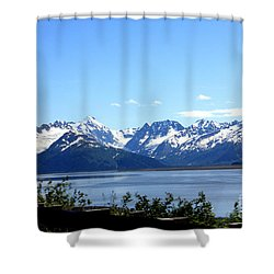 Shower Curtain featuring the photograph Scenic Byway In Alaska by Kathy  White