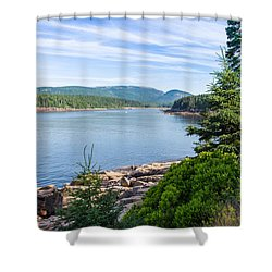 Shower Curtain featuring the photograph Scenic Cove At Acadia National Park by John M Bailey