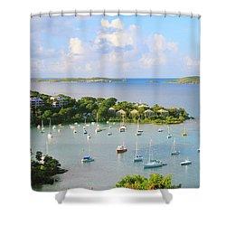 Scenic Overlook Of Cruz Bay St. John Usvi Shower Curtain