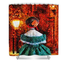 Scent Of A Woman Shower Curtain by Mo T