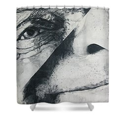 Schism Shower Curtain by Rory Sagner