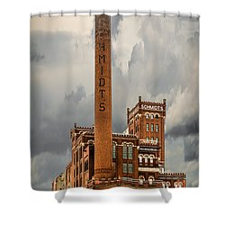 Schmidt Brewery Shower Curtain by Paul Freidlund