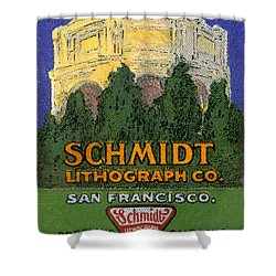 Schmidt Lithograph  Shower Curtain by Cathy Anderson